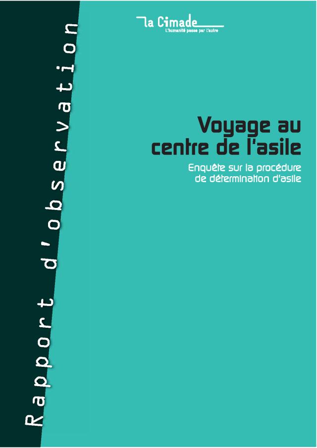 Publication de voyage au centre de l 39 asile - Office francais de protection des refugies et apatrides ...