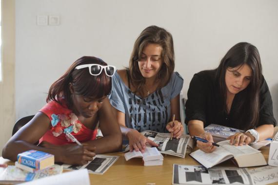 Cours de FLE par des bénévoles de La Cimade Montpellier