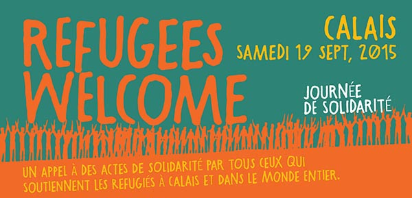 refugees welvome, calAid poster