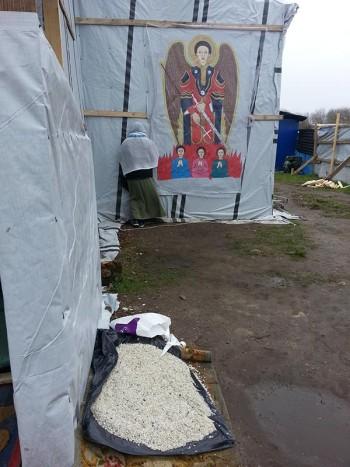 église fréquentées par les Erythréens, jungle de Calais