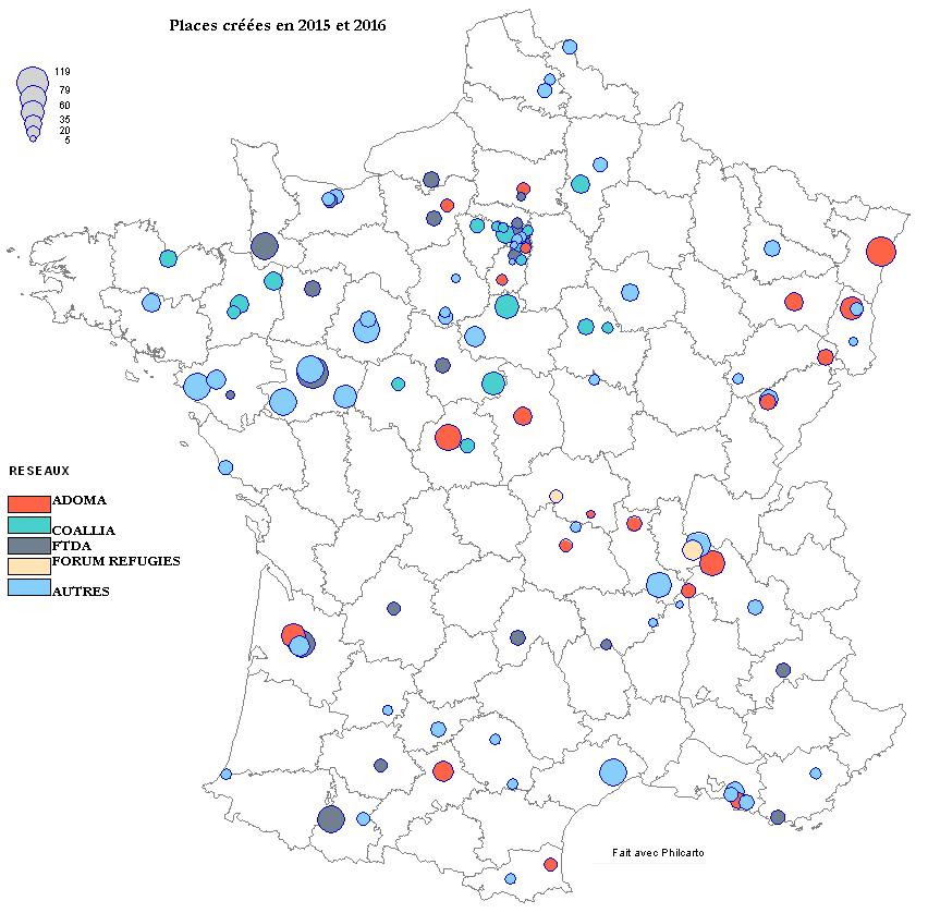 places créés 2015-2016