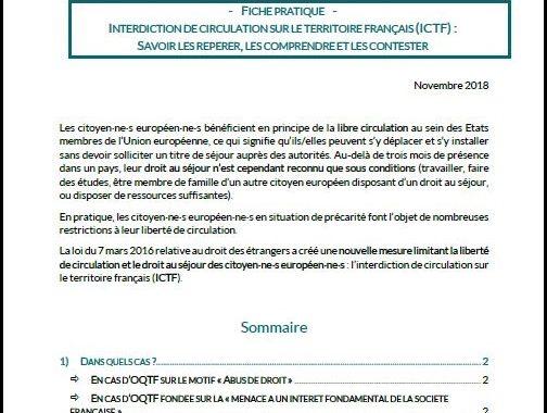 Fiche pratique interdiction de circulation sur le territoire français (ICTF)