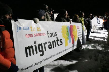 Maraude solidaire, Montgenèvre, 15 mars 2019.