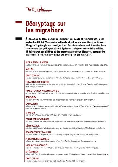 décryptage migrations