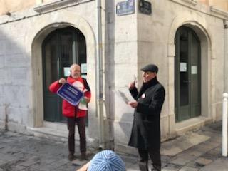 L'action de rue cimadienne à Toulon