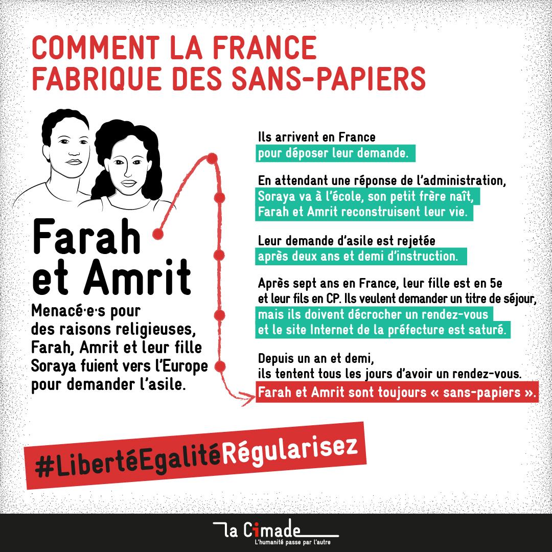 Comment la France fabrique des sans-papiers_Farah et Amrit